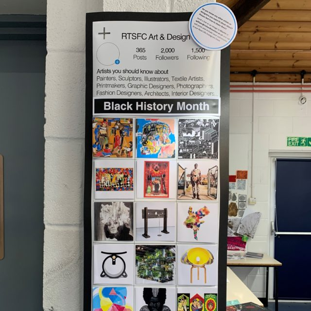 RTSFC Art Department create an interactive 'Instagram Wall' for BHM 2020